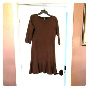 RALPH LAUREN Brown Dress
